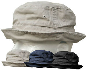 Image is loading Shapeable-Cotton-Bucket-Hat-Mens-Cap-Fishing-Sailor- 5e30bc102e7