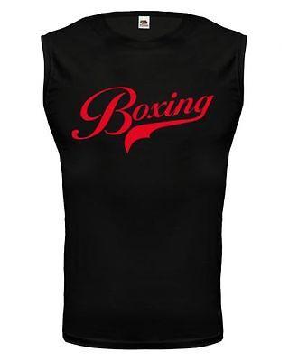 Herrenmode RüCksichtsvoll Unisex Muskelshirt ärmellos Tank Top Boxing Logo Boxen Boxsport Kampfsport