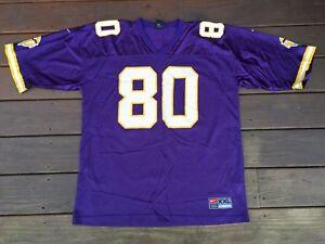 timeless design dd5cf 2ba1e Details about Vintage Cris Carter Minnestoa Vikings Jersey Nike Purple NFL  Football 2XL