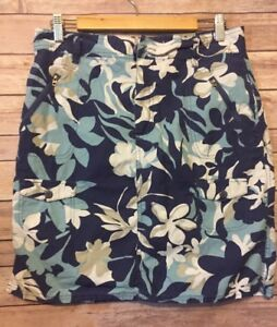 Columbia-Women-039-s-Skirt-Sz-12-Blue-Floral-Hiking-Outdoor