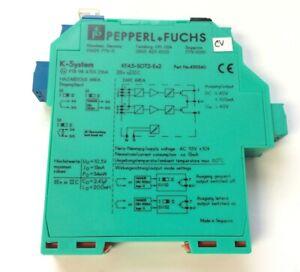 GOOD USED PEPPERL FUCHS DUAL CHANNEL ISOLATOR SWITCH KFA5-SOT2-EX2 KFA5SOT2EX2