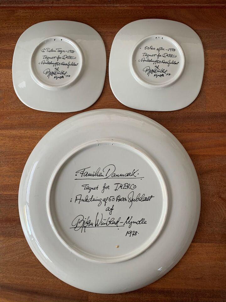 Platter/fade, Bjørn Wiinblad (3 stk jubilæumsmodel for