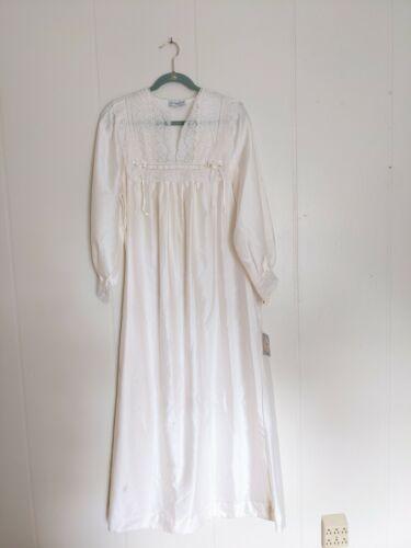 Christian Dior White Vintage 1980s Women's Long Ni