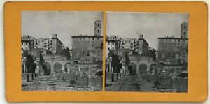Roma-Il-Forum-Ruines-Foto-P39L8n30-Stereo-Stereoview-Vintage-Analogica