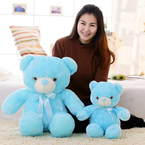 BOOKFONG Creative Light Up LED Teddy Bear Stuffed Animals Plush Toy Colorfu YU