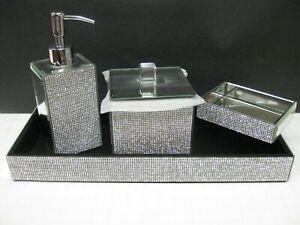 Gl Mirror Soap Dispenser Tray Jar