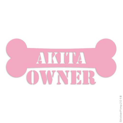 Akita Owner Bone Decal Sticker Choose Color Size #1670