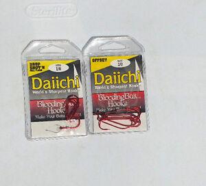 Lot  DAiiCHi Sharpest hooks Hooks size  1/0  & 2/0 . Medium Wire