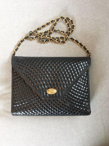 tas envelop zwart ketting laklederen Vintage gouden Bally QrdthxosBC
