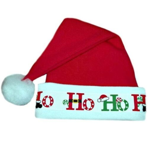 Newborn and Toddlers Up To 24 Months Ho Ho Ho Baby Santa Hat 7 Sizes Preemie