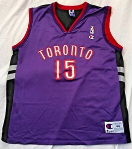 "wholesale dealer d3e7a 473dd Details about Vince Carter Toronto Raptors Throwback Champion Jersey Large  44 ""Air Canada"""