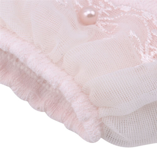 White Pink Cute Baby Lace Floral Short Socks Combed Cotton Ruffle Frilly Socks S