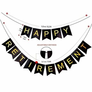 Happy-Retirement-Guirlande-fanions-Guirlande-Decoration-Fete-d-039-anniversaire