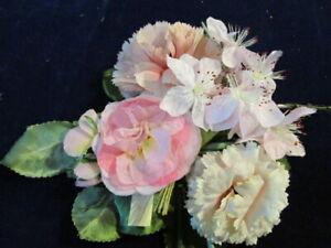 Vintage-Millinery-Flower-Collection-2-034-3-034-Pink-Shades-German-Japan-H2757