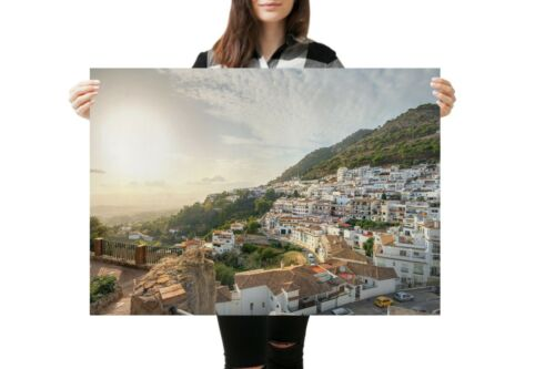 A1Mijas Costa del Sol Poster Art Print 60 x 90cm 180gsm Spain Fun Gift #12611