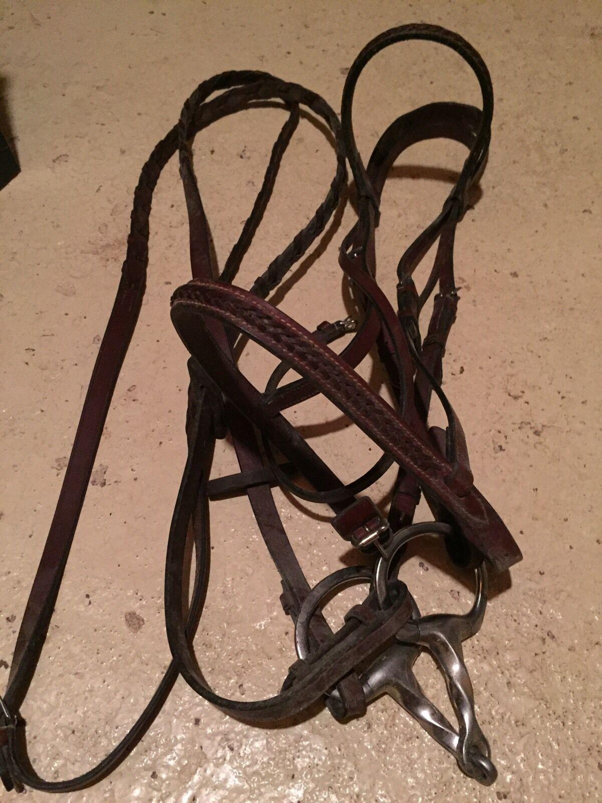 Suffolk Premium  Fancy Stitched Bridle - size horse  designer online