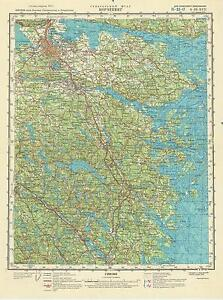 Russian Soviet Military Topographic Map NORRKOPING Sweden 1