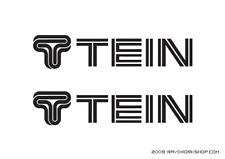 (2) TEIN Sticker DieCut Decal logo JDM