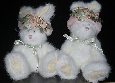 Boyds Bears Plush PIPER LAPINE Fabric Hat Spring Rabbit Bunny 918430