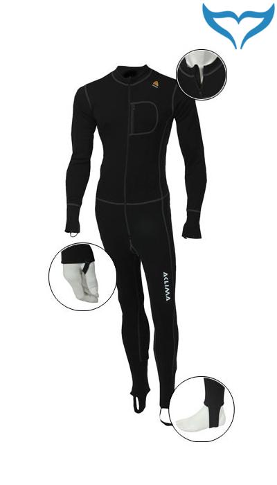 Aclima Warmwool Overall Bodypiece Unterzieher Funktionswäsche S-XXL Merino schwarz