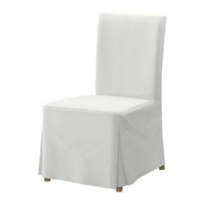 Phenomenal Ikea Henriksdal Blenkinge White 2 Long Skirted Dining Chair Covers 701 546 78 Ebay Machost Co Dining Chair Design Ideas Machostcouk