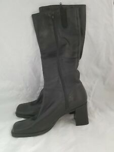 f894f1a7adb Nine West Chayra Black Leather Square Toe Knee High 3