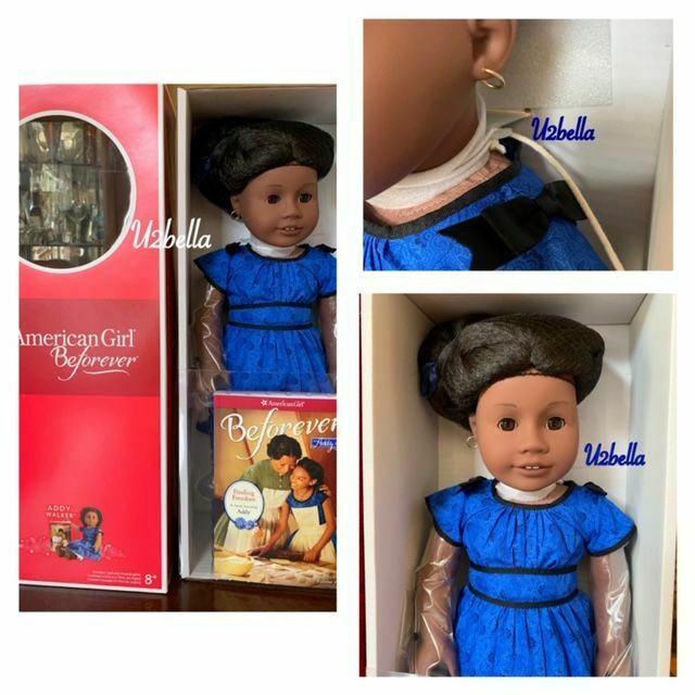 American Girl Addy Walker Doll A BEFOREVER Doll & Book NEW IN BOX NECK STRINGS