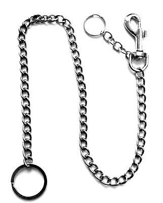 Vintage Titan Stahl Schädel Verschluss Schlüsselanhänger Karabiner Brieftasche