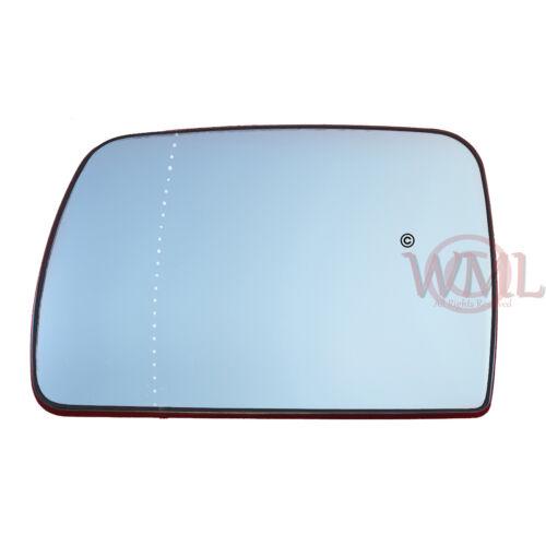 lado izquierdo /> 2005 Puerta Espejo De Cristal Asférica Azul Calienta /& Base BMW X5 1999