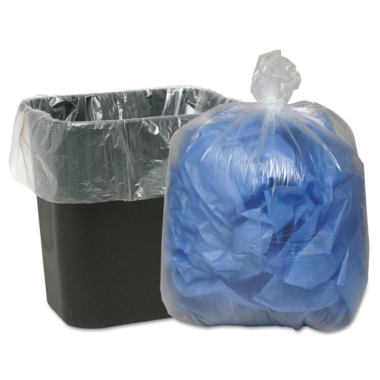 Classic Clear Clear Low-Density Can Liners 16gal .6mil 24 x 33 Clear 500 Carton