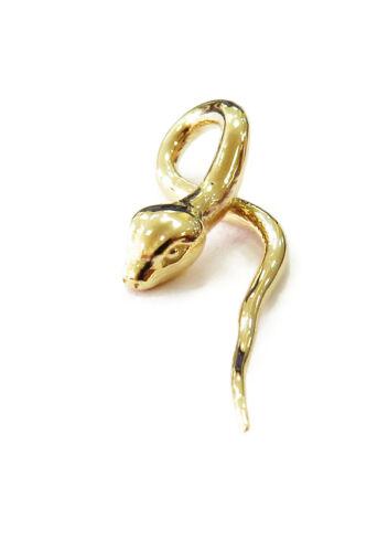 14K Or Jaune Serpent Charme Collier Pendentif ~ 2.0
