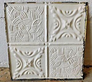 Antique-1800-039-s-12-034-x-12-034-TIN-CEILING-Tile-VICTORIAN-Multi-Pattern-Design-ORNATE