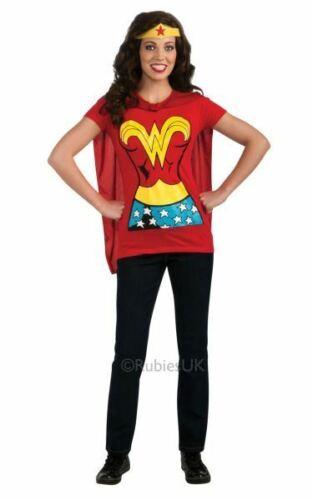 Wonder Woman Tshirt Womens Costume DC comics Marvel Superhero Fancy Dress outfit