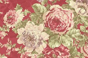 Cottage Shabby Chic Quilt Gate RURU Bouquet Lge Floral RU2200Y-11E Rosette BTY