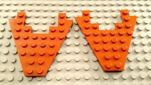 LEGO Lot of 2 Dark Orange 8x8 Wing Wedge Plates with 3x4 Cut Out