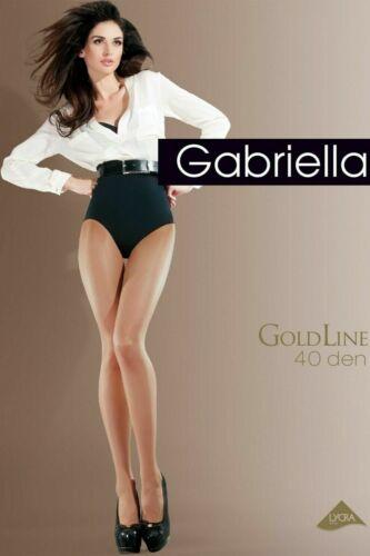 BNWT Gabriella Goldline 40 Den Tights In Beige