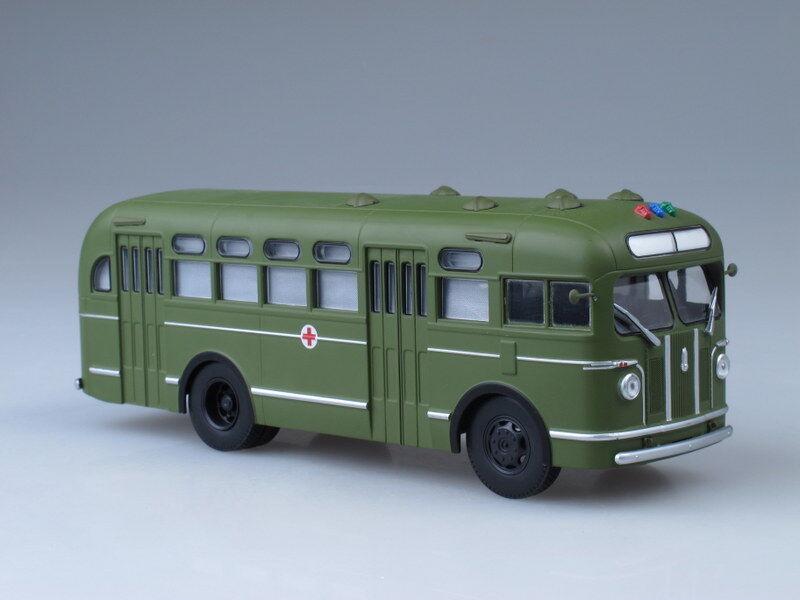 Scale model bus 1 43 ZIS-155 Sanitary