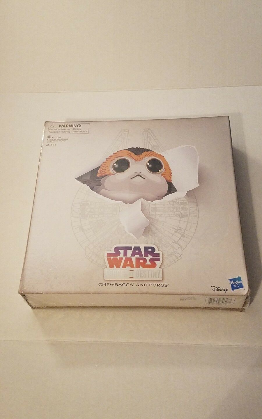 2018 SDCC EXCLUSIVE HASBRO STAR WARS FORCE OF DESTINY CHEWBACCA W/ PORG FAMILY