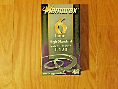 4 Pack Memorex T-120 High Standard Video Cassettes