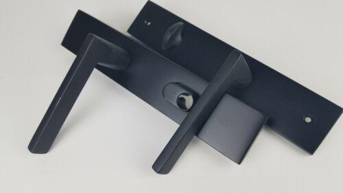 Emtek Keyed Entry Multi Point Trim Lever Set Matte Black No Cylinder 16B1US10B