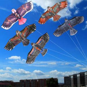 Hot-Huge-1-1m-Eagle-Kite-single-line-Novelty-animal-Kites-Children-039-s-Outdoo-S9B5