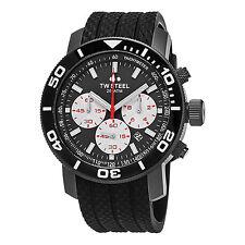 TW Steel Men's Grandeur Dive Grey Dial Black Rubber Strap Quartz Watch TW705