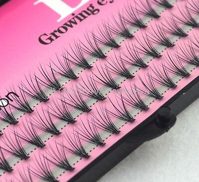 57Knots 12hair Individual False Eyelashes Eye Lashes Makeup Extension 8-10-12mm#