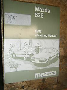 1983 MAZDA 626 ORIGINAL FACTORY SERVICE MANUAL WORKSHOP ...