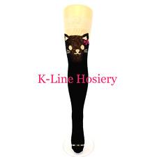 1 Pair Flirt Black Pussy Cat Tail Over The Knee Thigh High Socks, UK Size 4-7