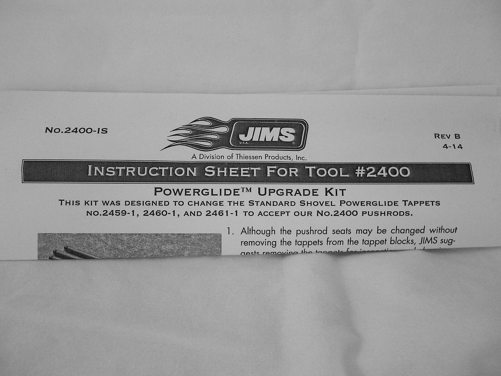 "JIMS # 2400 Harley SHOVELHEAD  /""PowerGlide/"" Upgrade PUSHROD KIT #2400"