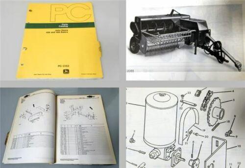 John Deere 456 466 Ballenpresse Ersatzteilliste Parts Catalog 1977