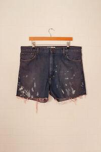 Vintage-Levi-039-s-Coupe-Short-Jeans-Bleu-Moyen-W38