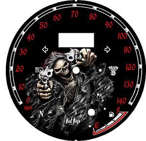 yamaha star raider 1900 custom speedo face plate km h mph