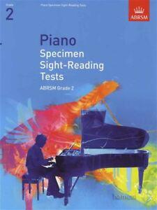 éNergique Piano Specimen Sight-reading Tests For Piano Abrsm Grade 2 Examen Music Book-afficher Le Titre D'origine Renforcement De La Taille Et Des Nerfs